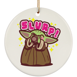 Baby Yoda the Soup Broth Christmas tree ornament - TheTrendyTee