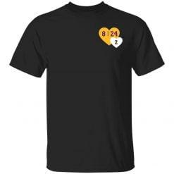 Lebron Tribute Kobe Heart Pocket shirt - TheTrendyTee