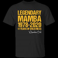 Kobe Bryant Mamba-Out 41 Years Of Greatness T-Shirt - TheTrendyTee