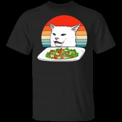 Petty Cat Meme Woman Yelling at Cat Vintage shirt - TheTrendyTee