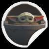 Baby Yoda floating pod sticker - TheTrendyTee